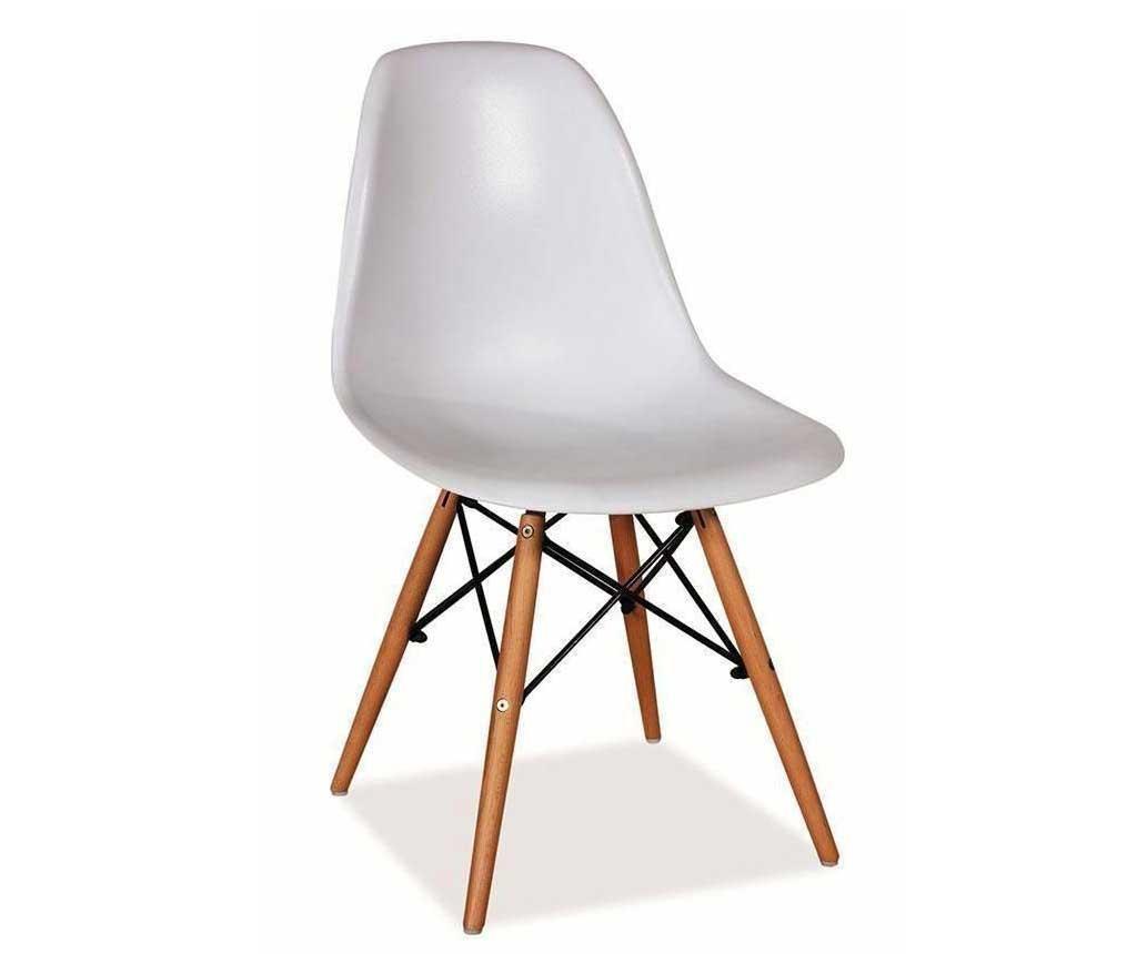 model scaun lombardo alb